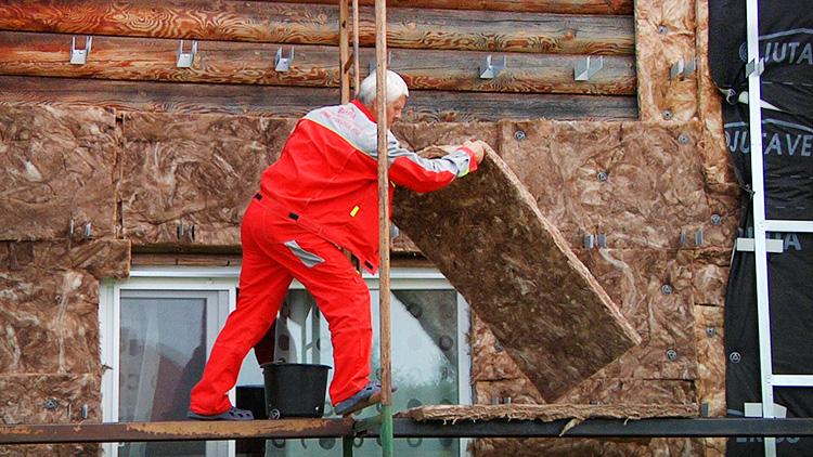 Утепление стен минераловатными плитами