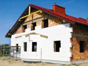 Утепление кирпичного дома пенопластом
