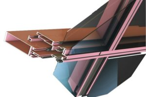 Полуструктурное фасадное остекление