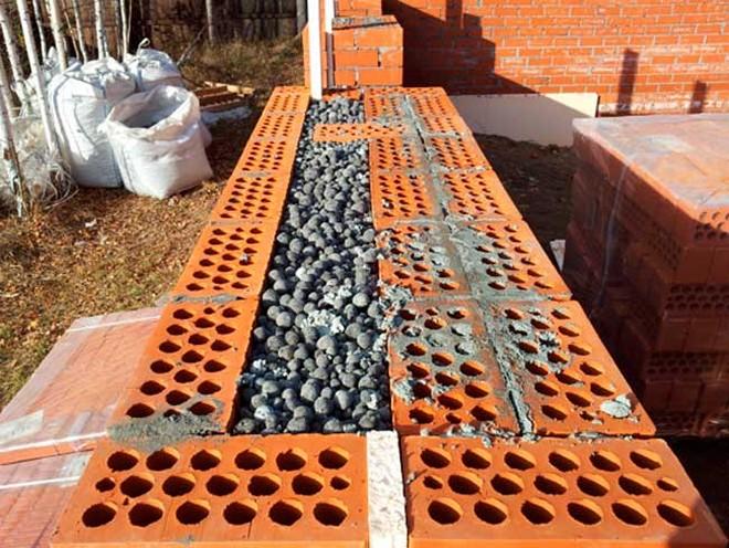 Колодцевая кладка с керамзитобетоном бетон новосибирска