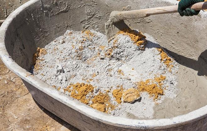 Соотношение песка и цемента