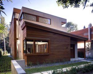Фасад из деревянных реек