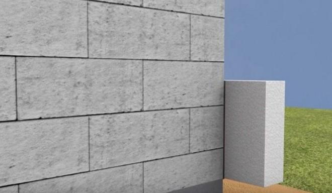 Крепление пенополистирола на углы стен