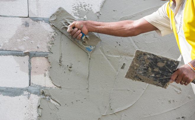 штукатурка стен перед утеплением
