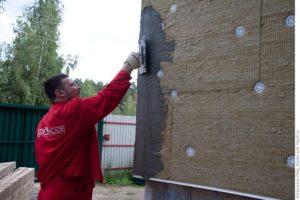 Мокрый фасад на утеплитель Роквул