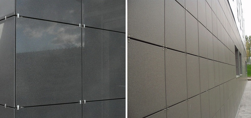 Матовый и глянцевый керамогранит для фасада