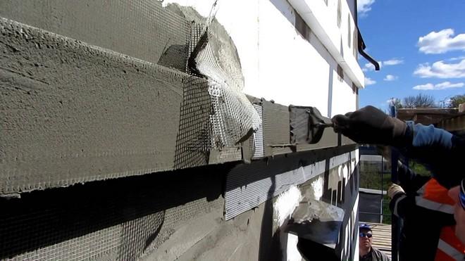 Утепление методом мокрого фасада