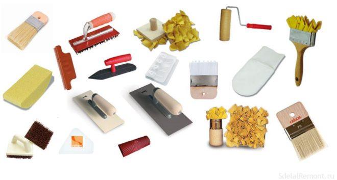 материалы для декоративной штукатурки