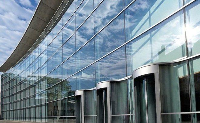 стеклянный алюминиевый фасад