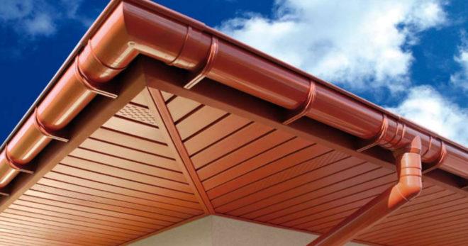 отделка крыши софитами