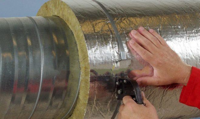 утепление труб базальтовой ватой