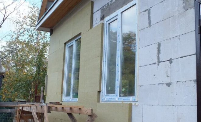 теплоизоляция дома из пенобетона