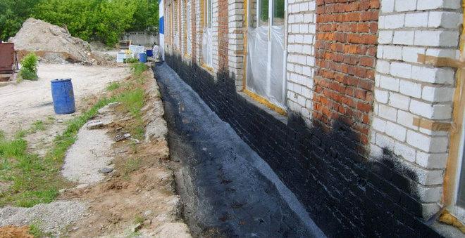 гидроизоляция отмостки вокруг дома