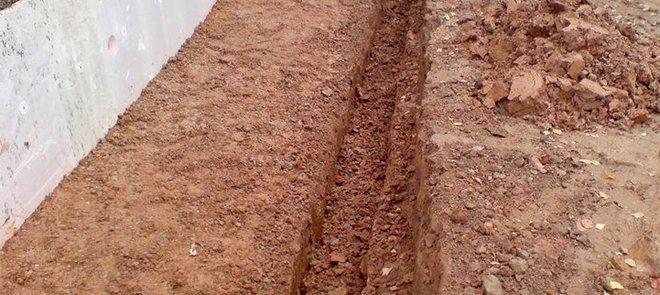 земельные работы для сооружения отмостки