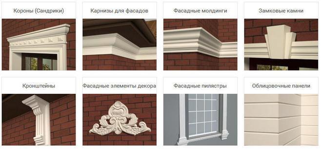 архитектурные элементы оконных и дверных проемов