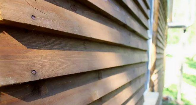 обшивка дома доской елочка