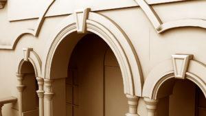 фасад с аркой