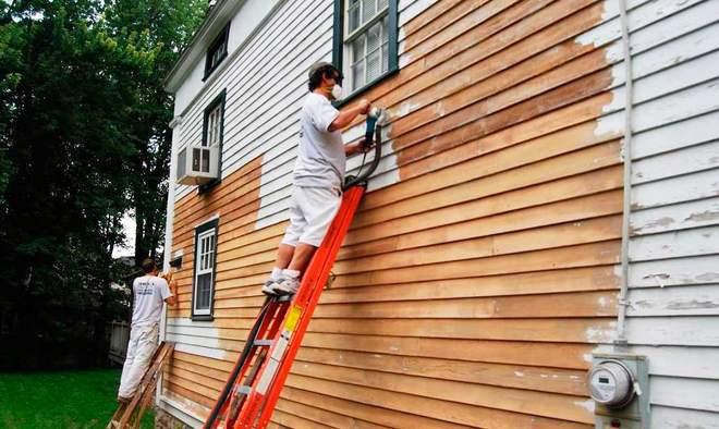 окрашивание фасада по старой краске