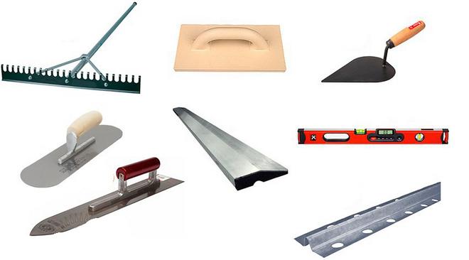 инструменты для штукатурки под бетон