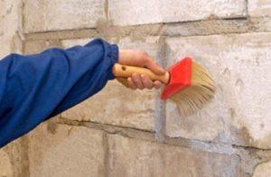 подготовка стены из пеноблока