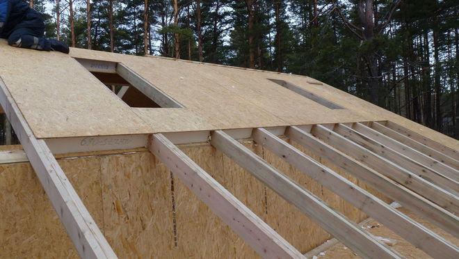 крыша в сип доме