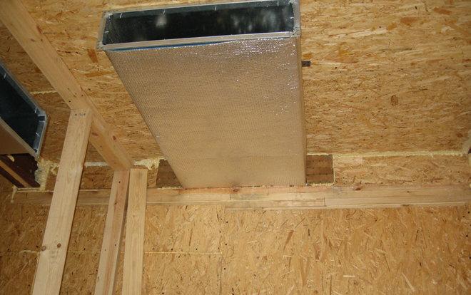 обеспечение вентиляции в доме из осп