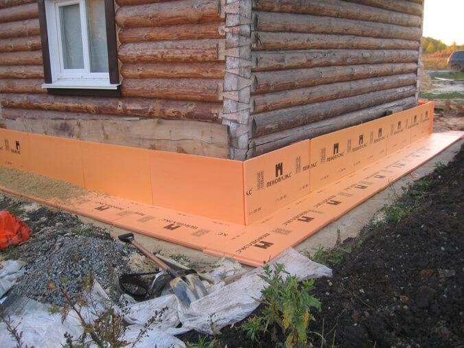 Утепление цоколя снаружи деревянного дома