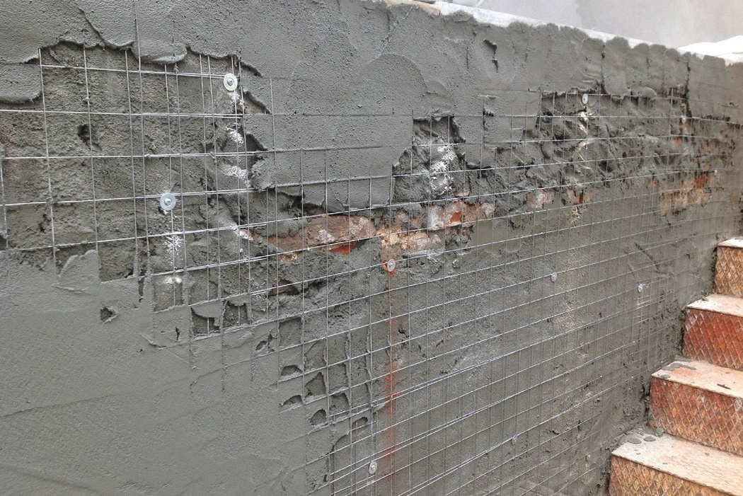 Технология штукатурки фасада по сетке