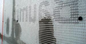 Монтаж стекловолоконной сетки