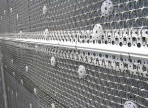 Монтаж металлической сетки