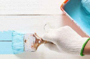 Окрашивание поверхностей резиновой краской