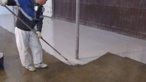 Окрашивание бетона эмалями