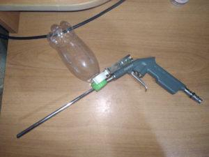 Краскопульт из продувочного пистолета