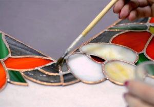 Технология окрашивания стекла