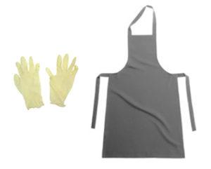 надевать перчатки и фартук;